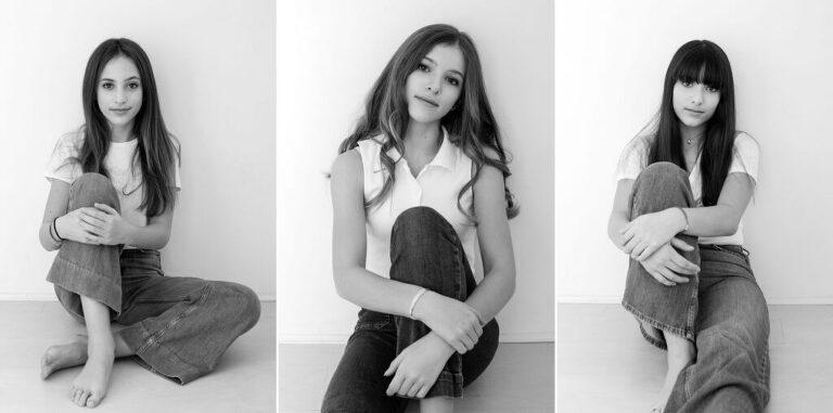 ritratti di tre ragazze